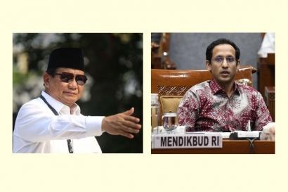 """Duet Prabowo-Nadiem Gagas """"Wajib Pendidikan Militer"""" di Kampus, Anda Setuju?"""
