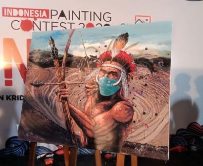 Pelukis Unjuk Diri di Indonesia Painting Contest 2020 di Malang
