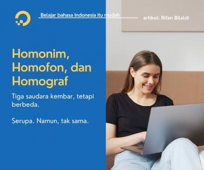 Homonim, Homofon, dan Homograf Tiga Saudara Kembar, tetapi Berbeda