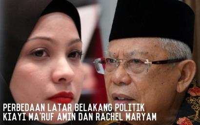Perbedaan Latar Belakang Politik Kiayi Ma'ruf Amin dan Rachel Maryam