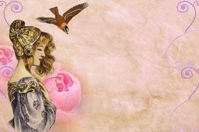 Wanita dan Burung Kecil