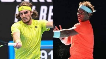 Australian Open: Nadal Sudah Menua, Dipecundangi Tsitsipas