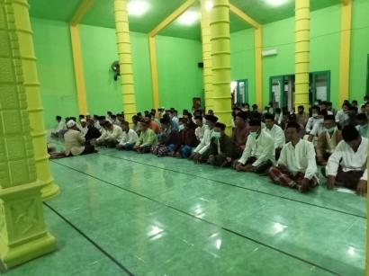 Tahlilan 365 Hari Wafatnya Imam Masjid Baitul Muttaqqin di Padati Jamaah