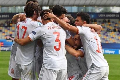 Susah Payah Kalahkan Kroasia, Spanyol ke Semifinal Euro U-21!