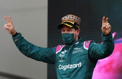 Mantap, Inspector Vettel Naik Podium di Balapan Penuh Drama GP Azerbaijan