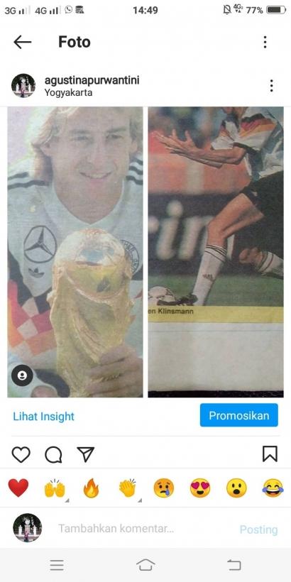 Ketika Buchwald Menyukai Unggahan Kliping tentang Klinsmann