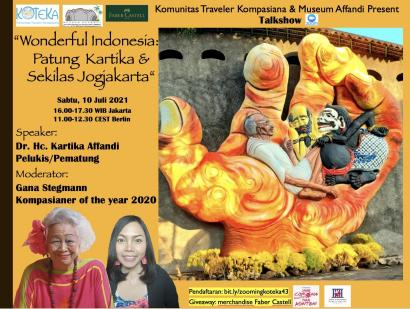 Simak Wonderful Indonesia: Patung Kartika Affandi dan Sekilas Jogja, Yuk!