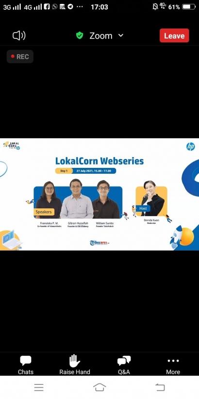 LokalCorn Webinar Series yang Menginspirasi Startup Lokal Go Nasional