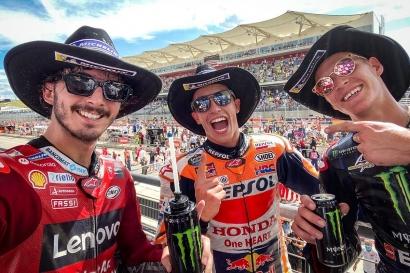 MotoGP Amerika 2021: Marc Marquez Raja COTA dan Misteri Podium Bagnaia