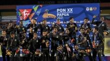 Gambar Artikel Papua Kawinkan Medali Emas Sepakbola PON XX 2021