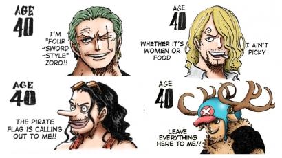 One Piece: Oda Beri Ilustrasi Nakama Topi Jerami Versi Tua!