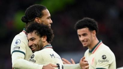 Catatan Kemenangan Liverpool atas MU: Rekor Mohamed Salah dan Ronaldo yang Frustasi