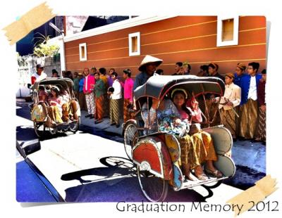 Graduation with Indonesian Cultural Style