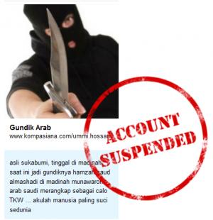 """""""Account Suspended @Kompasiana Diburu Densus 88"""""""
