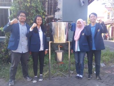 Mahasiswa Universitas Brawijaya Peduli Lingkungan, Terapkan Inovasi Alat Pengolah Limbah Batik