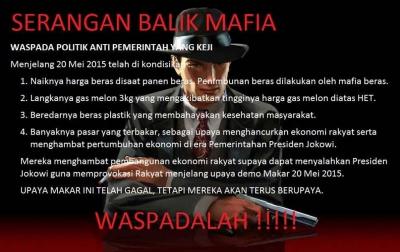 Waspada terhadap aksi serangan balik Mafia